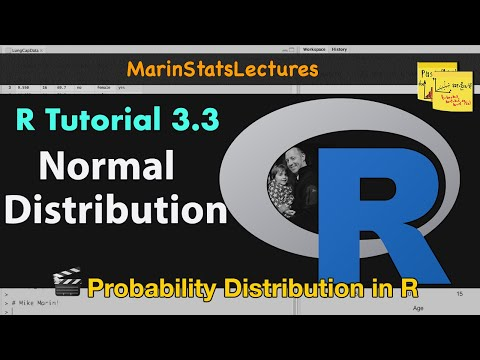 Normal Distribution, Z Scores, and Normal Probabilities in R (R Tutorial 3.3)