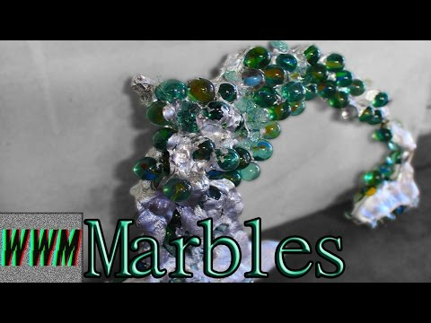 Molten Aluminium Over Glass Marbles