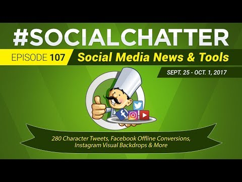 Social Media Marketing Talk Show 107 - 280 characters on Twitter and Instagram visual backdrops,