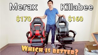 Best Gaming Chair: Killabee VS Merax (Similar Chairs) | Which is Better & Why?