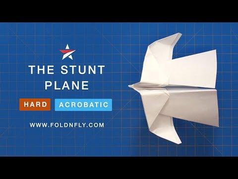 ✈ Fun Acrobatic Trick Paper Airplane Tutorial - The Stunt Plane - Fold 'N Fly