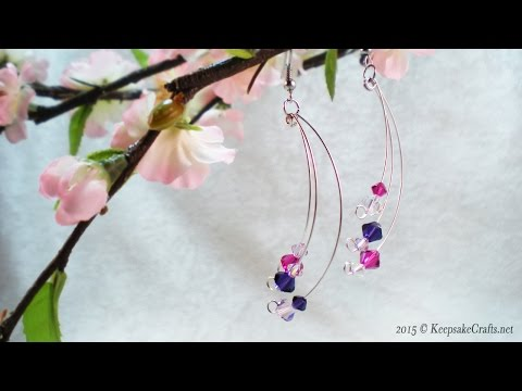 How To Make Swoosh Dangle Earrings