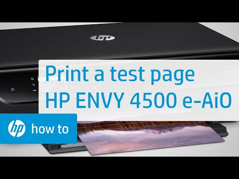 Printing a Test Page - HP ENVY 4500 e-All-in-One Printer