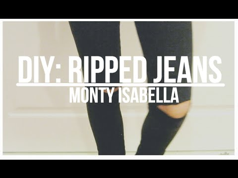 DIY KNEE RIPPED JEANS