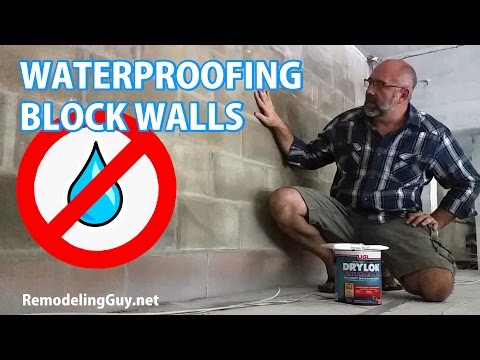 Waterproofing Block Walls with Drylok Extreme