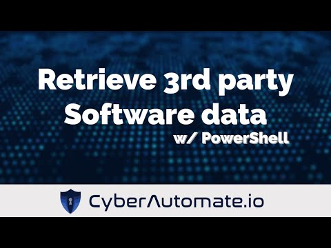 Use PowerShell to retrieve 3rd party software versions
