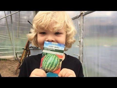 Houston finally got to plant his watermelon seeds