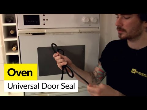 How to fit universal oven door seals on a cooker