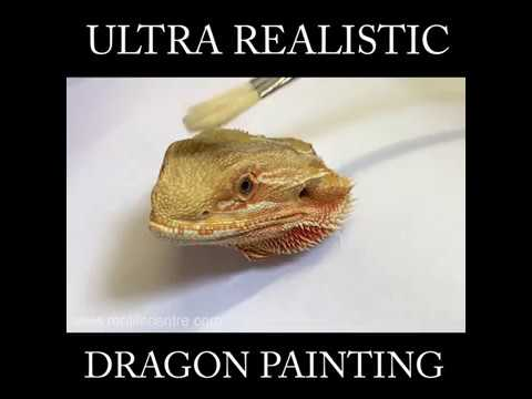 Bearded Dragon Ultra Realistic Painting