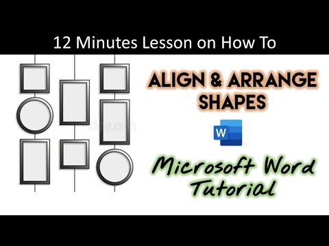 How To Align and Arrange Objects | Word 2016 Drawing Tools Tutorial | The Teacher