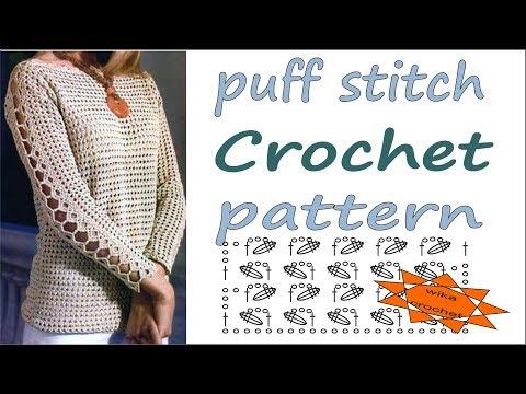 Puff stitch pattern Lace crochet pattern WIKACrochet