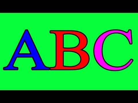 Green Screen (ABCD Song) ABC Songs for Children || Alphabet Songs