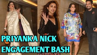 Madhu Chopra, Parineeti Chopra, Arpita Khan & Other Stars  Arrive At Priyanka Nick Engagement Party
