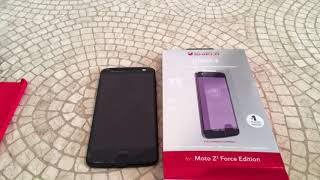 ZAGG InvisibleShield Glass+ for moto z2 force edition Unboxing and Review