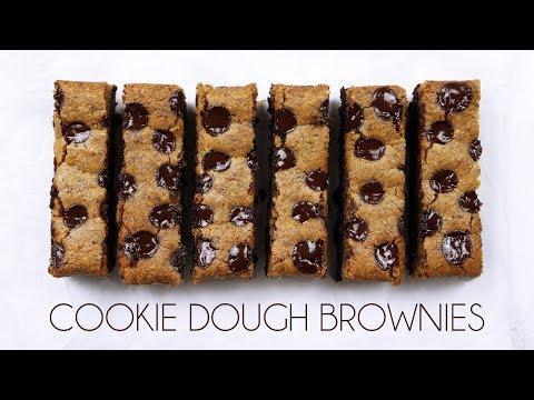 Cookie Dough Brownie Bars (Vegan & Gluten-free)