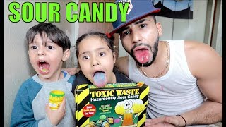 EXTREME SOUR CANDY CHALLENGE!!! **TOXIC WASTE**