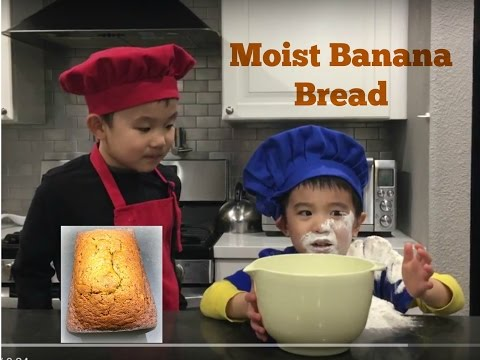 Easy Banana Bread Recipe | Super Moist | Cooking With Kids