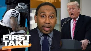 First Take responds to President Trump