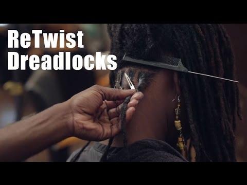 How to Re-Twist Dreadlocks | Loc Maintenance