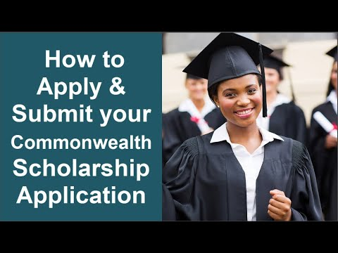 How to Apply for Commonwealth Scholarship for Masters & PhD