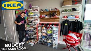 Building The Ultimate BUDGET Sneaker Room! (IKEA SETUP!)