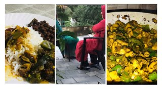 Simple Vlog l 🦑 Squid-Pepper Roast l Rasam mix I Godambh Puttu recipes 😋😋