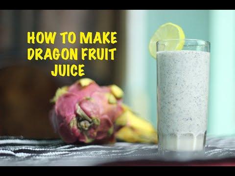 How to make dragon fruit juice