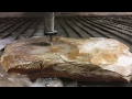 Cutting Rock With A 60,000 PSI Waterjet
