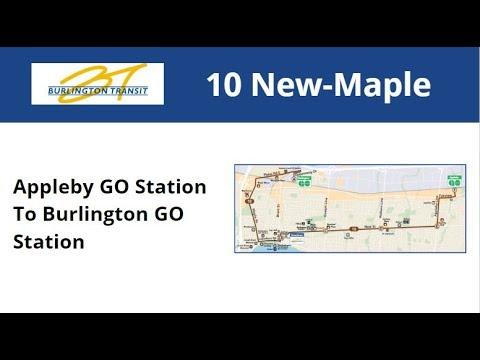 Burlington Transit 2007 NFI D40LF #7037-07 On 10 New-Maple (Appleby GO To Burlington GO)