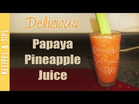 Delicious Papaya Pineapple Juice- The290ss