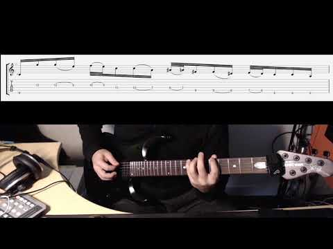 Dream Theater Instrumedley Tutorial Part 1 (Slow motion with Tabs)