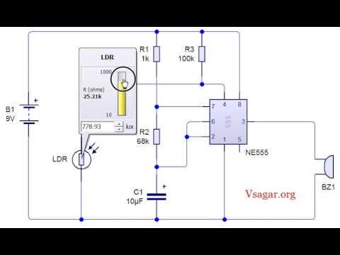 IC 555 Infrared burglar alarm