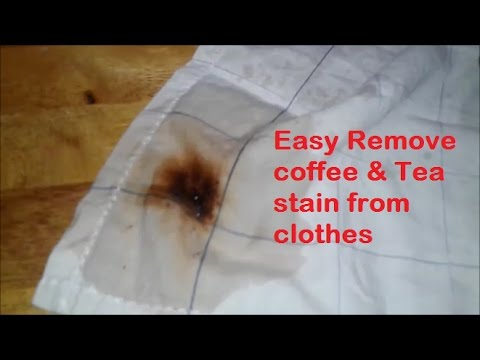 Easy Remove coffee & Tea stain from clothes