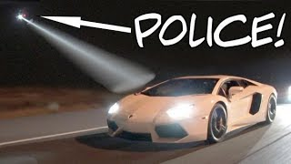 Lambo Caught by Police Chopper While STREET RACING!