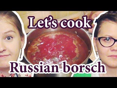 Russian borscht, how to cook Russian Borsch, русский борщ recipe, ukrainian borscht, украинский