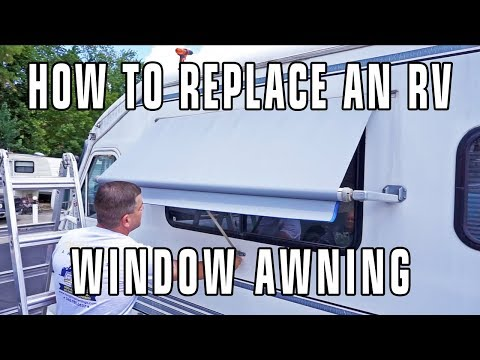 How to Replace an RV Window Awning - Dometic / A&E