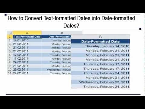 Microsoft Excel Converting Date Data in Text Format to Date Format