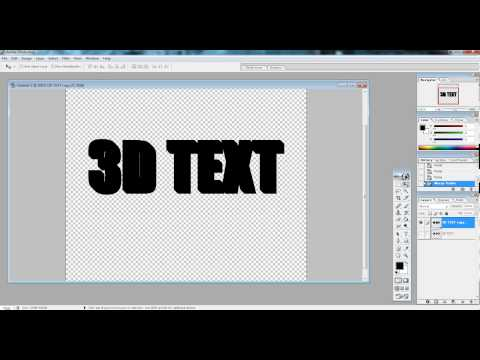 3D Text in Photoshop 7.0+ Tutorial