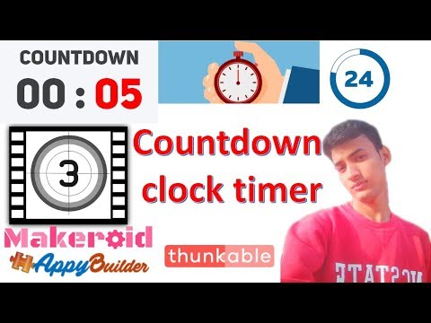 Countdown clock timer Professional App banaye appybuilder makeroid me thunkable tutorial in hindi