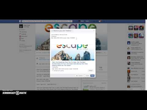 How to invite people to Event on Facebook