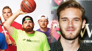 Dude Perfect YouTuber THREAT? PewDiePie & JackSepticEye UNVERIFIED!  BIG YouTuber EXPOSED in Public
