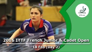 2016 French Junior  Cadet Open - Day 2 LIVE