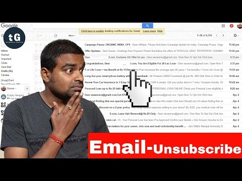 Email Filter | How to unsubscribe all the Unwanted emails in Gmail