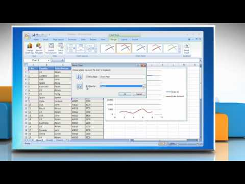Microsoft® Excel 2007: How to create a basic chart on Windows® 7