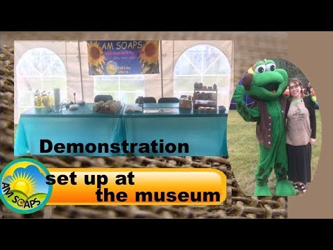 Demonstration set up at the museum