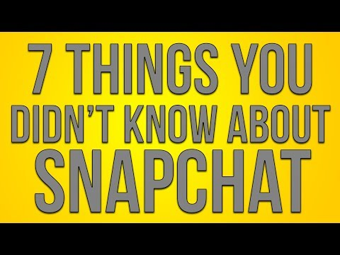 7 THINGS YOU DIDN'T KNOW ABOUT SNAPCHAT! (Snapchat Easter Eggs)