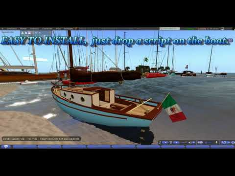 Second life - Ali Vultee - Apply texture scripts to boats