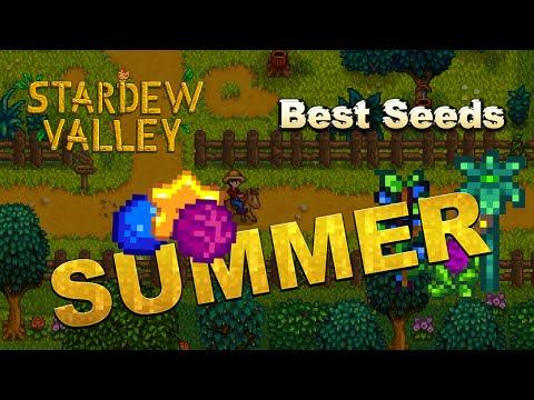 Stardew Valley - Money Making - Summer - Best Seeds