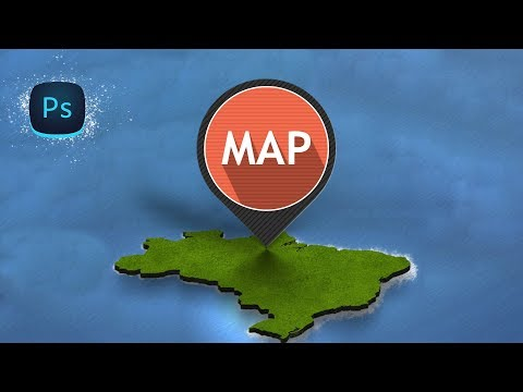 How to Design Vector Map Pointer in Photoshop
