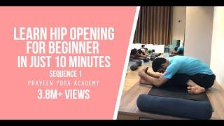 Download Yoga For Beginner   Hip Opening   Sequence 1  Jai Yoga   master praveen